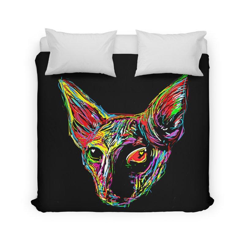 Sphynx cat Love Home Duvet by barmalisiRTB