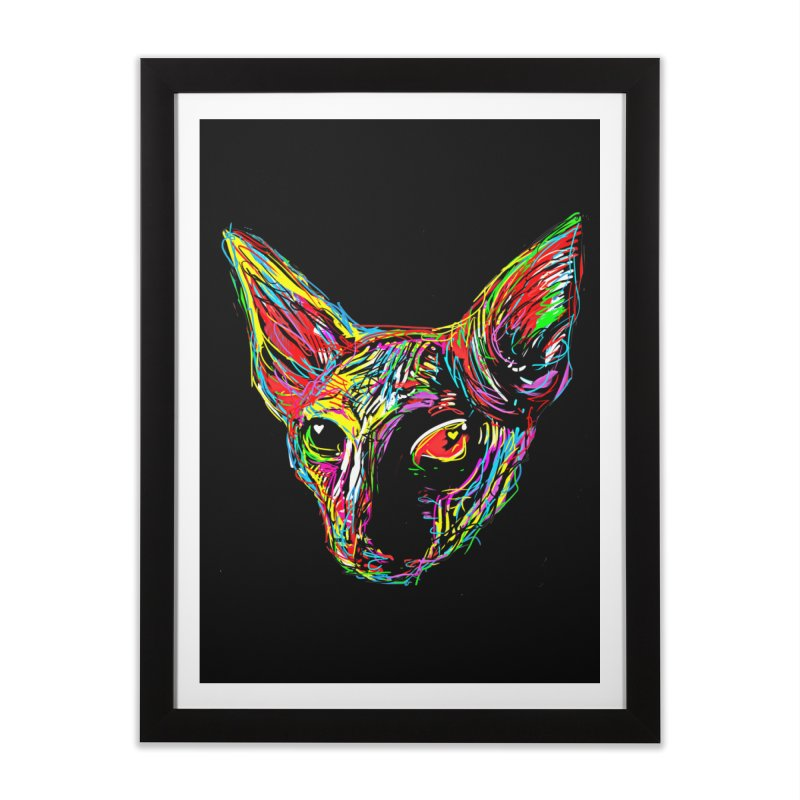 Sphynx cat Love Home Framed Fine Art Print by barmalisiRTB
