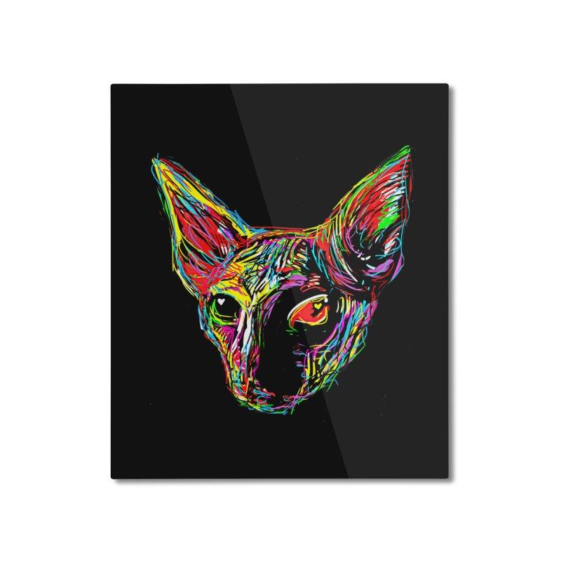 Sphynx cat Love Home Mounted Aluminum Print by barmalisiRTB