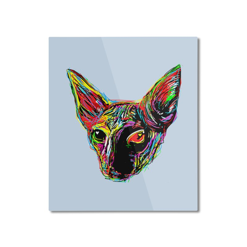 Sphynx cat Love Home Mounted Aluminum Print by barmalisiRTB