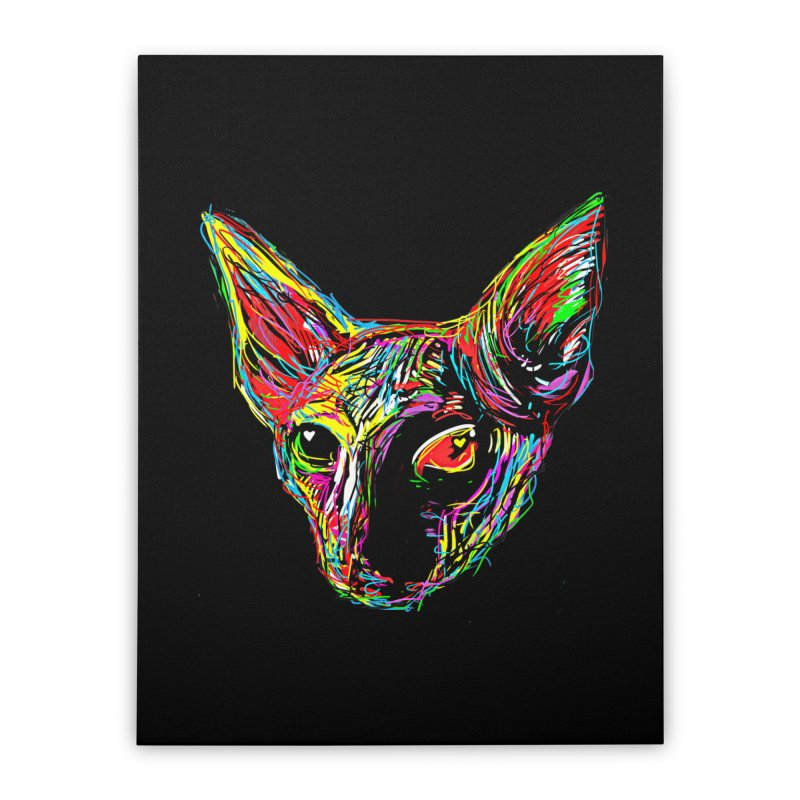 Sphynx cat Love Home Stretched Canvas by barmalisiRTB