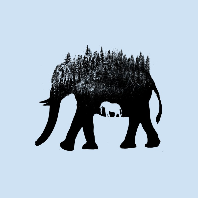 Nature elephant Women's T-Shirt by barmalisiRTB