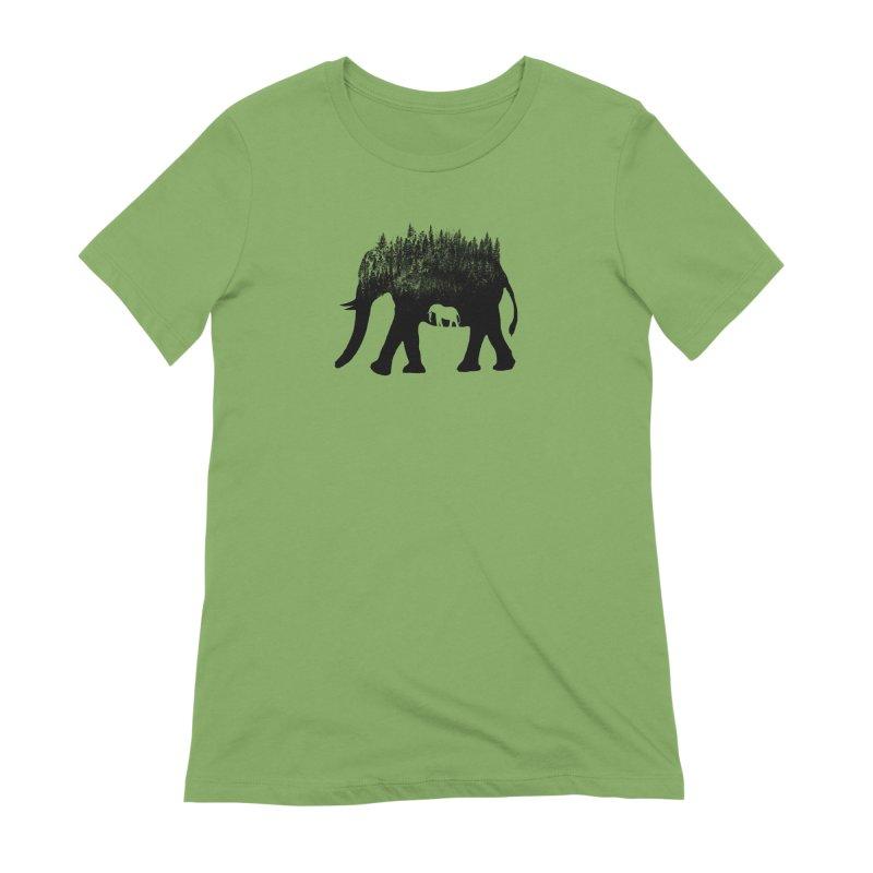 Nature elephant Women's T-Shirt by barmalisiRTB