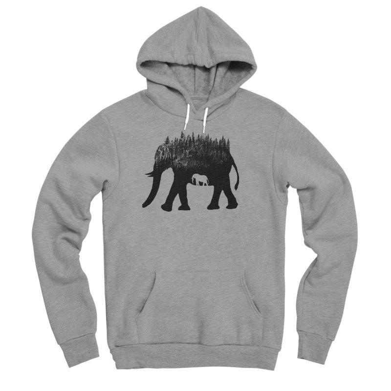 Nature elephant Men's Sponge Fleece Pullover Hoody by barmalisiRTB