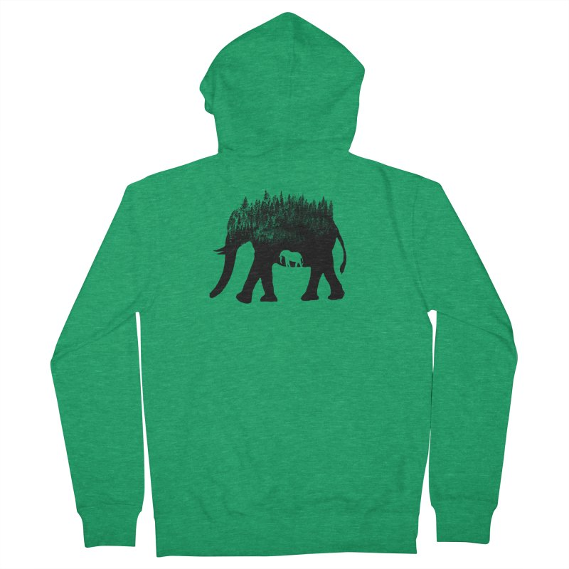 Nature elephant Women's Zip-Up Hoody by barmalisiRTB