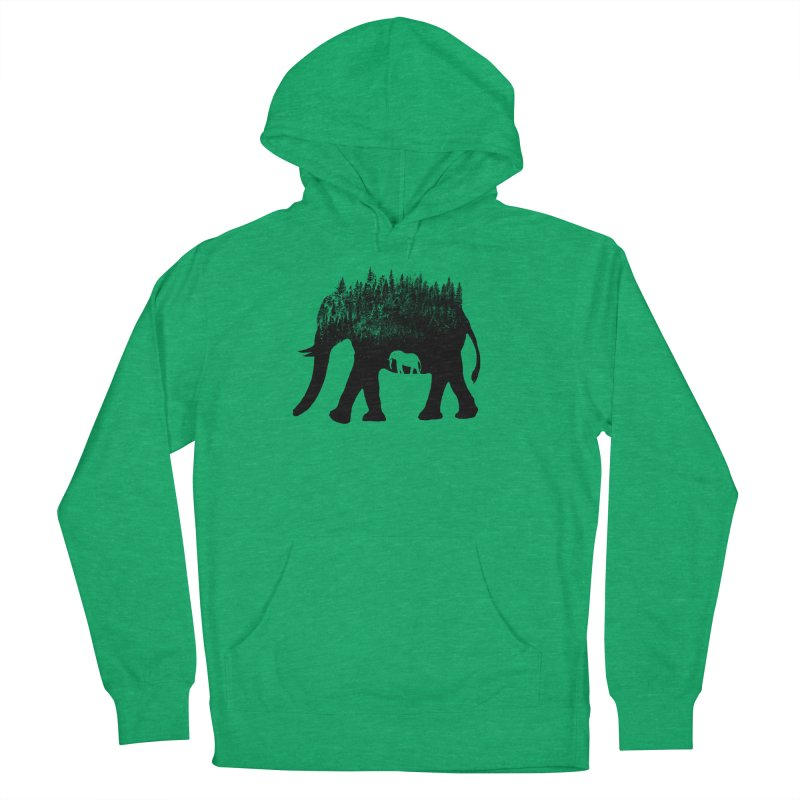 Nature elephant Men's French Terry Pullover Hoody by barmalisiRTB