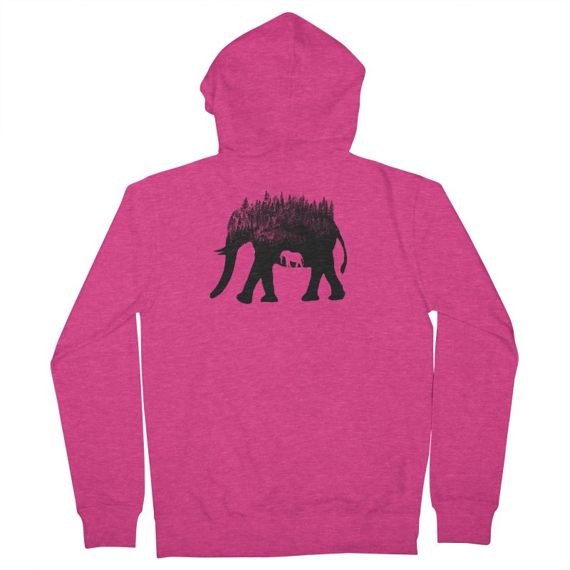 Nature elephant Women's French Terry Zip-Up Hoody by barmalisiRTB