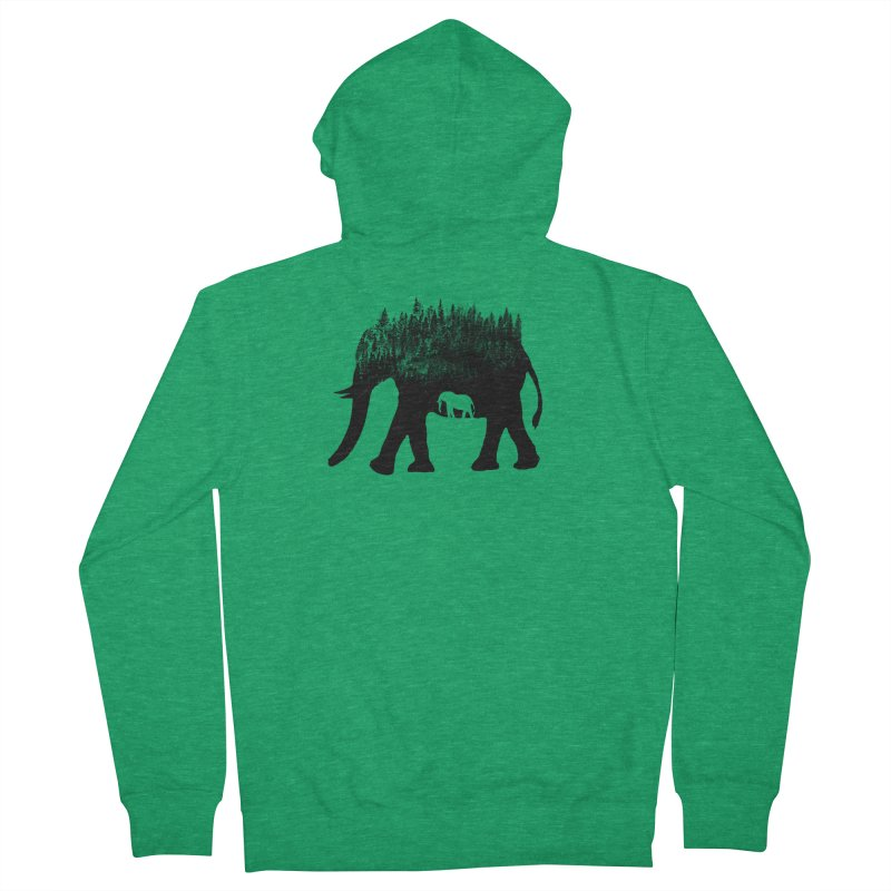 Nature elephant Men's Zip-Up Hoody by barmalisiRTB
