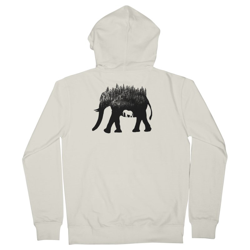 Nature elephant Men's French Terry Zip-Up Hoody by barmalisiRTB