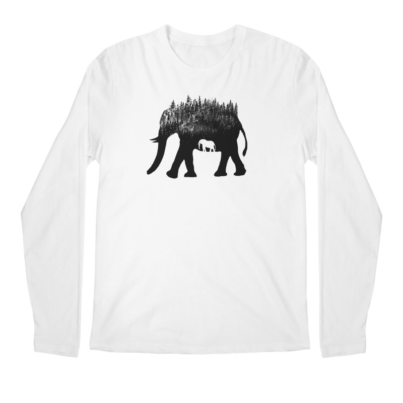 Nature elephant Men's Regular Longsleeve T-Shirt by barmalisiRTB