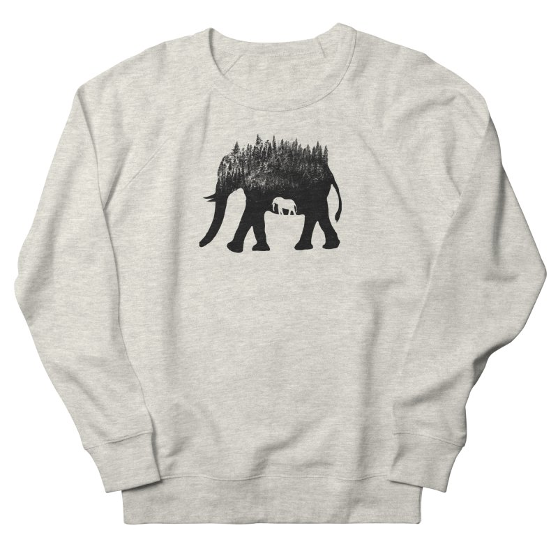 Nature elephant Women's French Terry Sweatshirt by barmalisiRTB