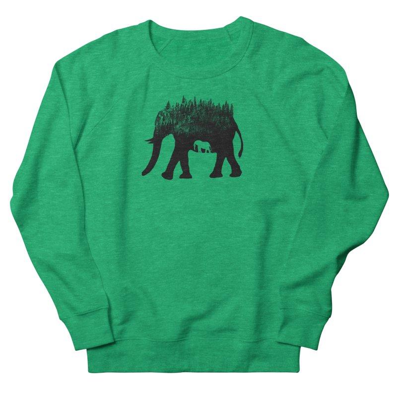 Nature elephant Men's French Terry Sweatshirt by barmalisiRTB