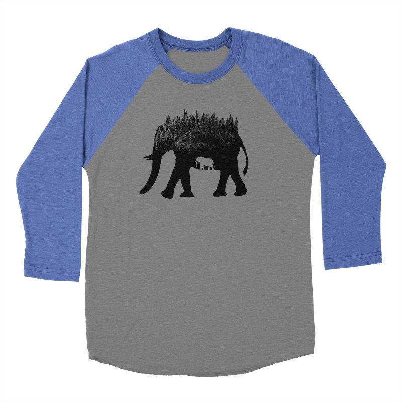 Nature elephant Men's Baseball Triblend Longsleeve T-Shirt by barmalisiRTB