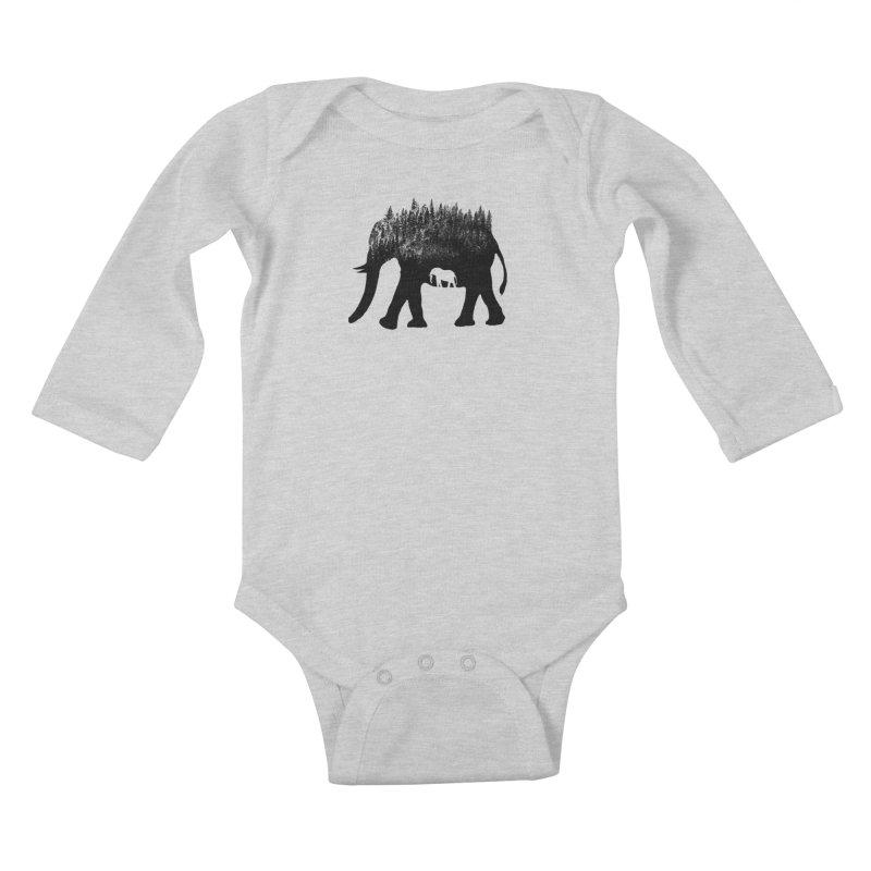 Nature elephant Kids Baby Longsleeve Bodysuit by barmalisiRTB