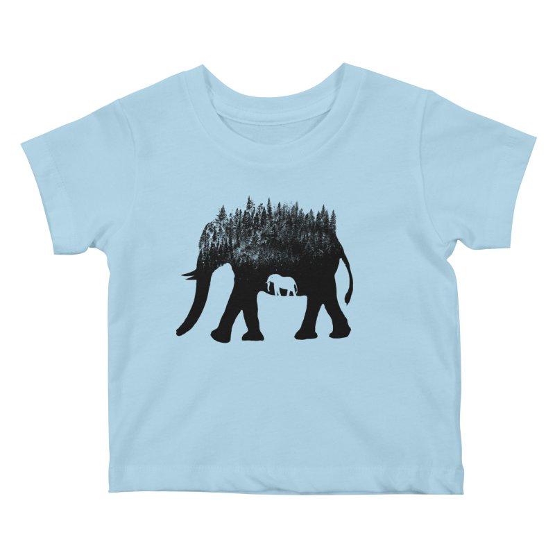 Nature elephant Kids Baby T-Shirt by barmalisiRTB