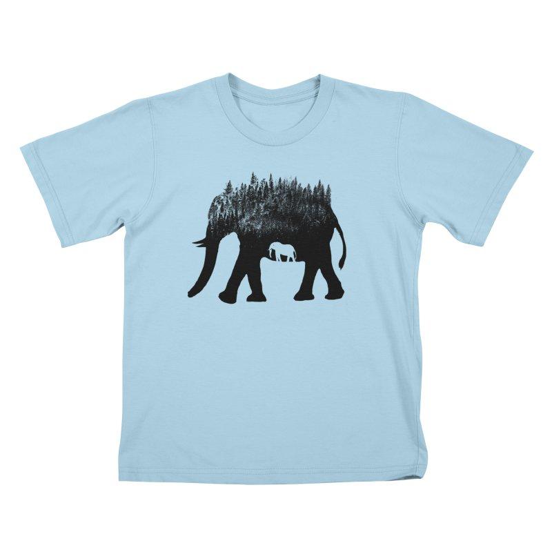 Nature elephant Kids T-Shirt by barmalisiRTB