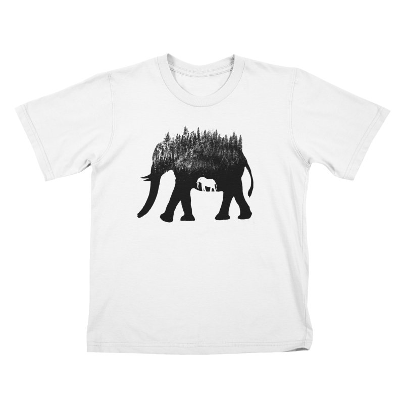 Nature elephant Kids T-Shirt by barmalisiRTB