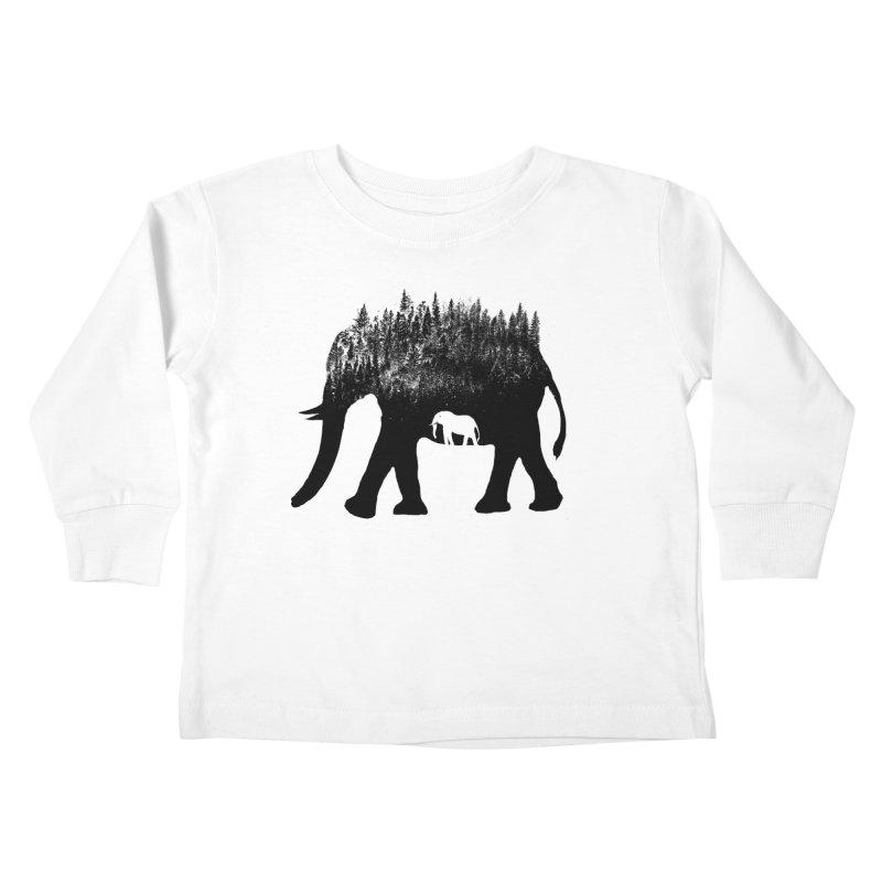Nature elephant Kids Toddler Longsleeve T-Shirt by barmalisiRTB