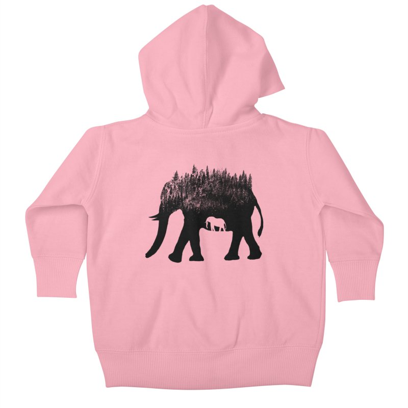 Nature elephant Kids Baby Zip-Up Hoody by barmalisiRTB