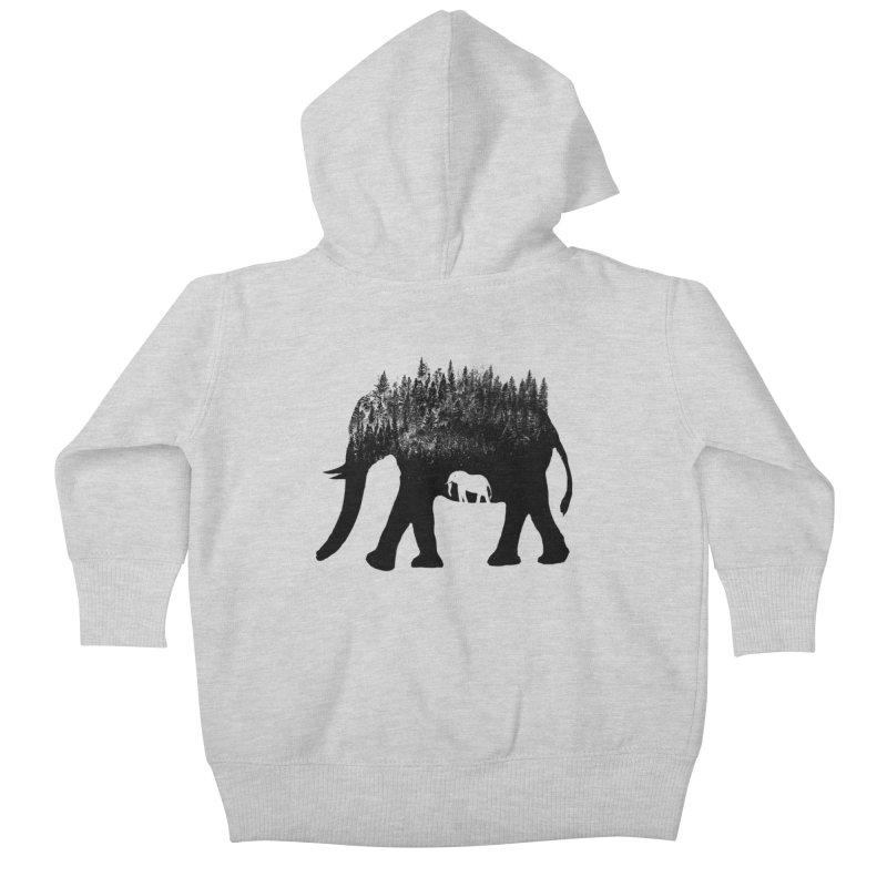 Nature elephant Kids Baby Zip-Up Hoody by barmalisiRTB
