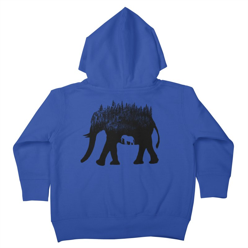 Nature elephant Kids Toddler Zip-Up Hoody by barmalisiRTB