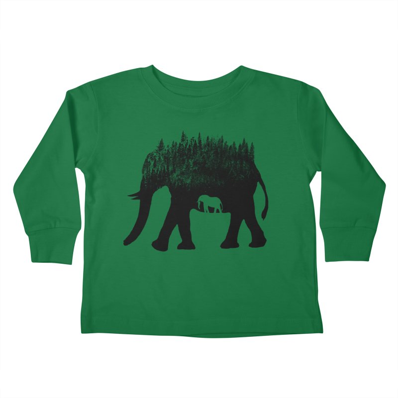 Nature elephant Kids Toddler Longsleeve T-Shirt by barmalisiRTB