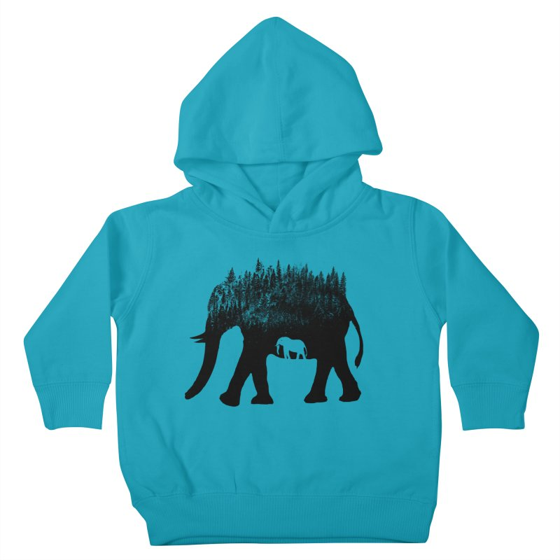 Nature elephant Kids Toddler Pullover Hoody by barmalisiRTB
