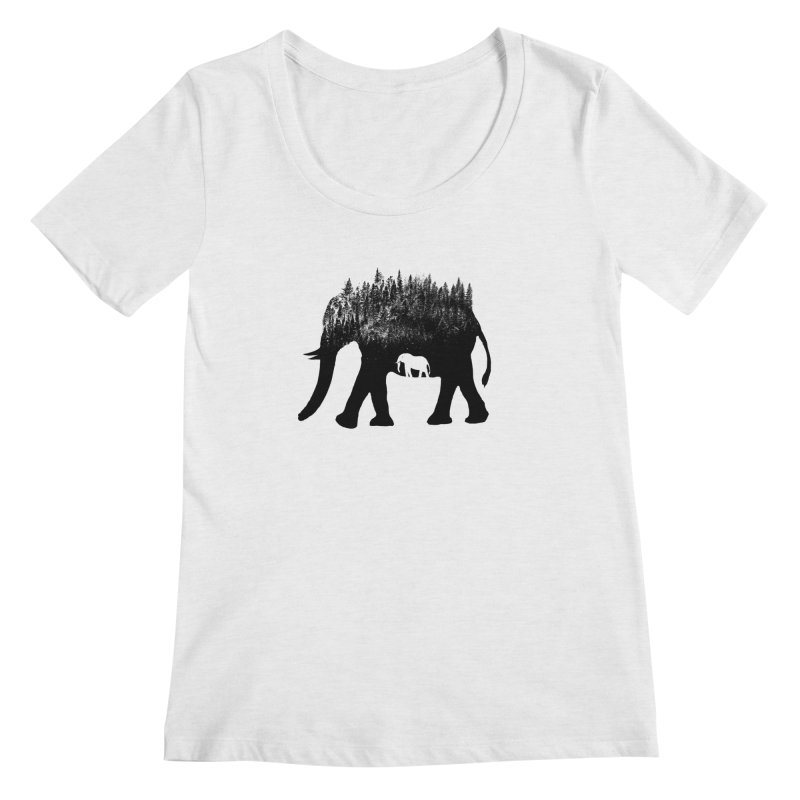Nature elephant Women's Scoop Neck by barmalisiRTB