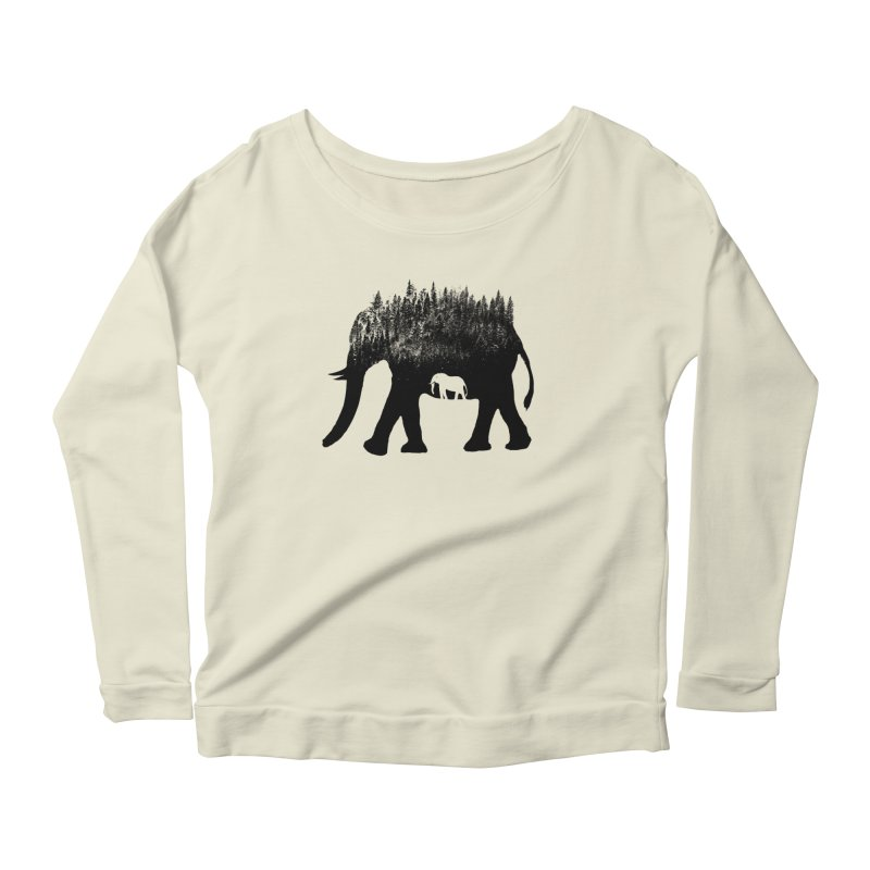 Nature elephant Women's Scoop Neck Longsleeve T-Shirt by barmalisiRTB