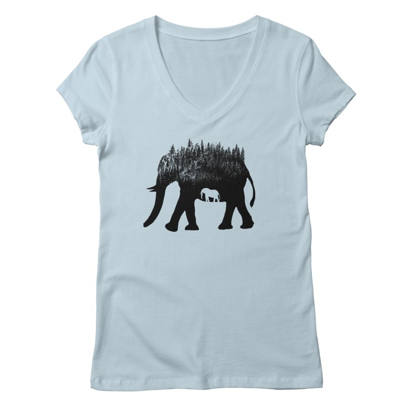 Nature elephant Women's V-Neck by barmalisiRTB
