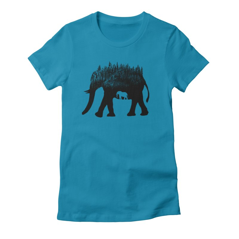 Nature elephant Women's Fitted T-Shirt by barmalisiRTB