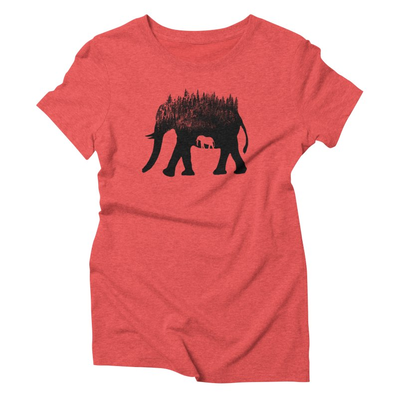 Nature elephant Women's Triblend T-Shirt by barmalisiRTB
