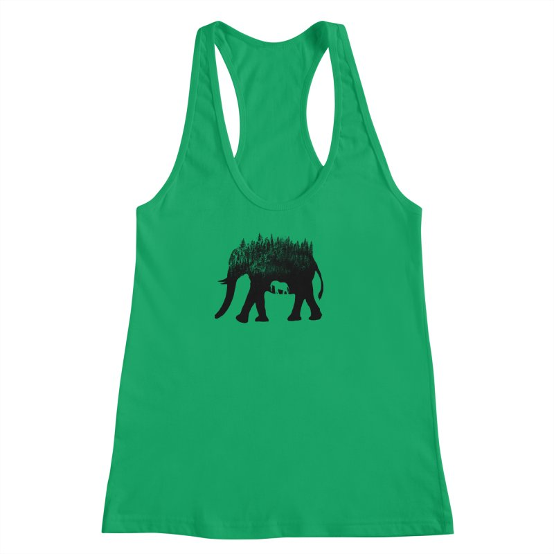 Nature elephant Women's Racerback Tank by barmalisiRTB