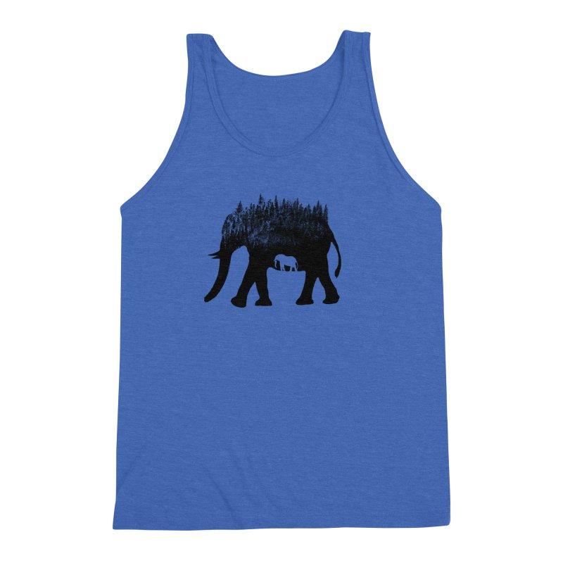 Nature elephant Men's Triblend Tank by barmalisiRTB