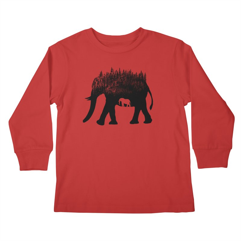 Nature elephant Kids Longsleeve T-Shirt by barmalisiRTB