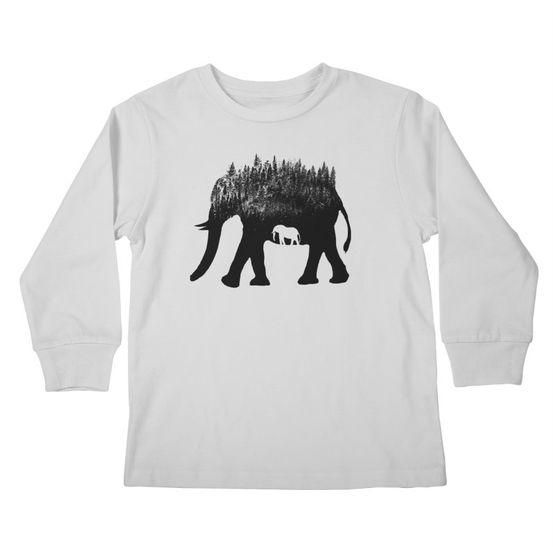 Nature elephant Kids Longsleeve T-Shirt by barmalisiRTB