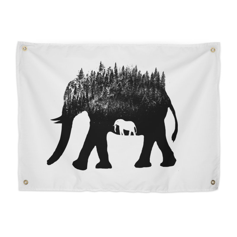 Nature elephant Home Tapestry by barmalisiRTB