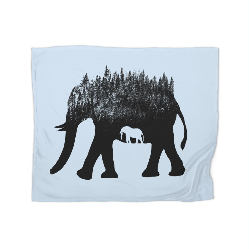 Nature elephant Home Blanket by barmalisiRTB