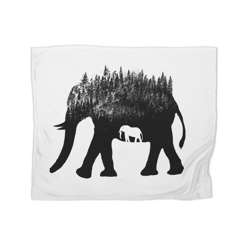 Nature elephant Home Blanket by barmalisiRTB
