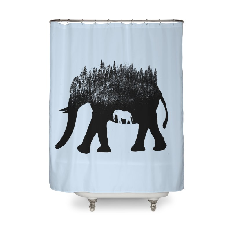 Nature elephant Home Shower Curtain by barmalisiRTB