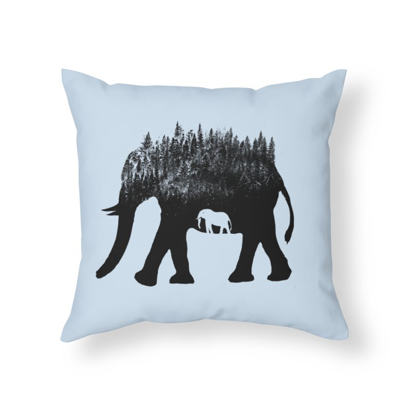 Nature elephant Home Throw Pillow by barmalisiRTB