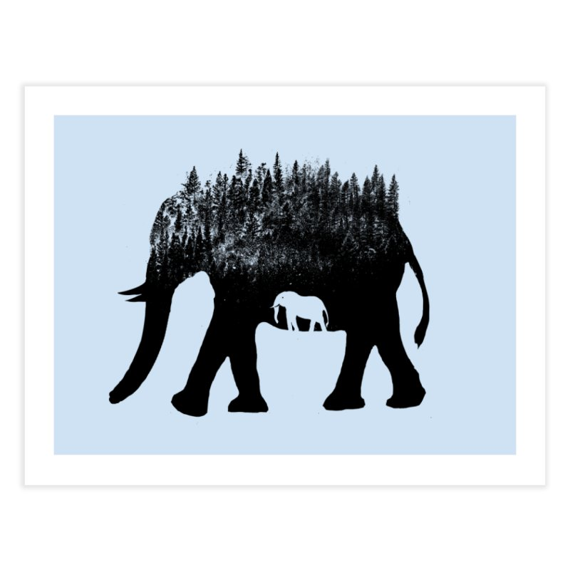 Nature elephant Home Fine Art Print by barmalisiRTB