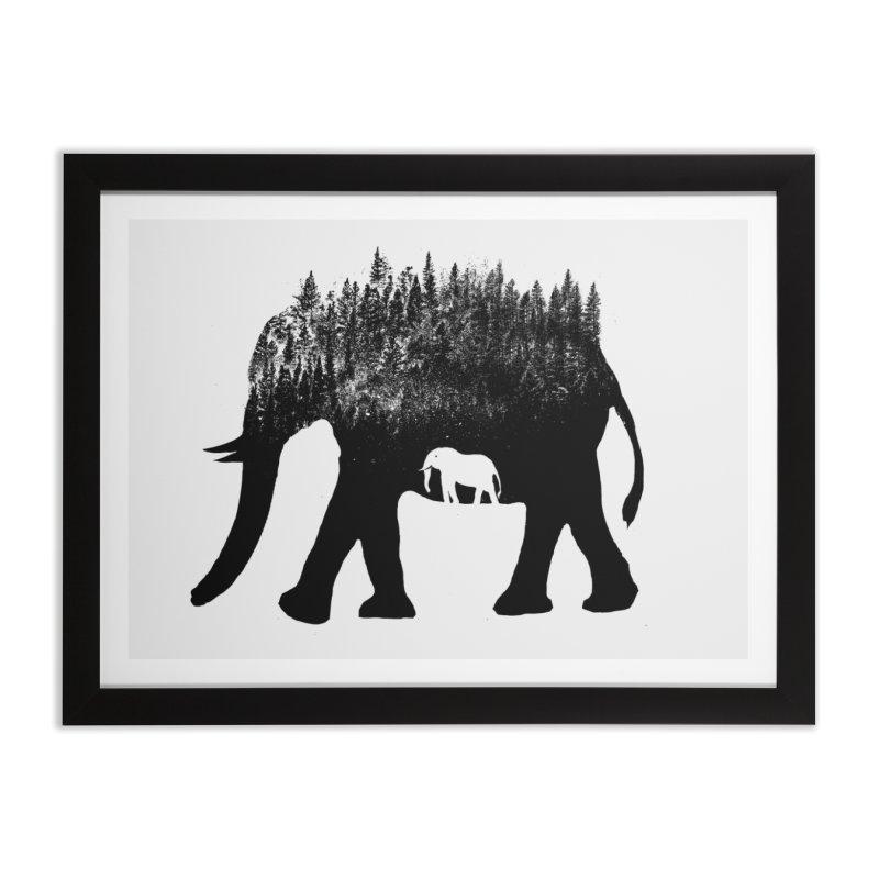 Nature elephant Home Framed Fine Art Print by barmalisiRTB