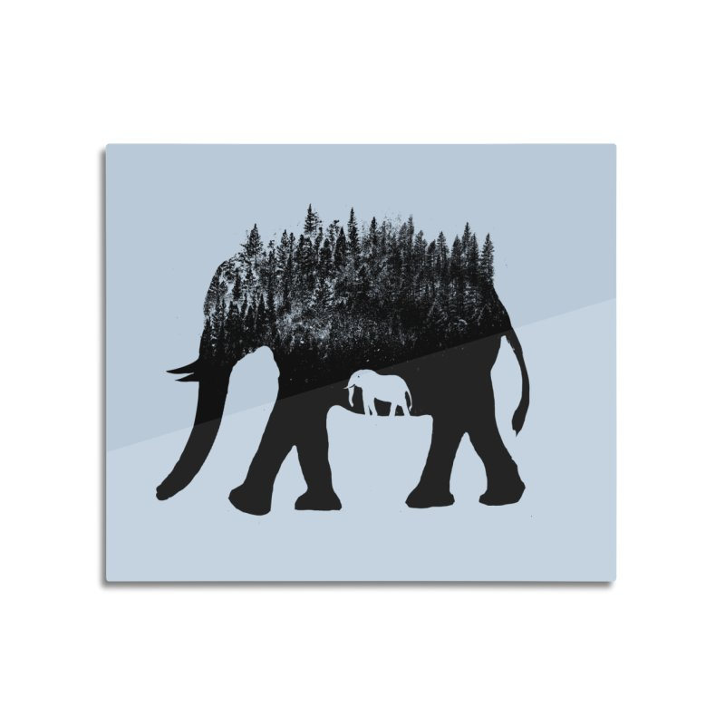 Nature elephant Home Mounted Aluminum Print by barmalisiRTB