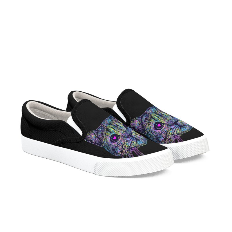 Love Cat Men's Slip-On Shoes by barmalisiRTB