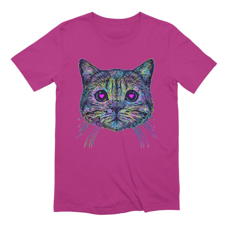 Love Cat Men's Extra Soft T-Shirt by barmalisiRTB