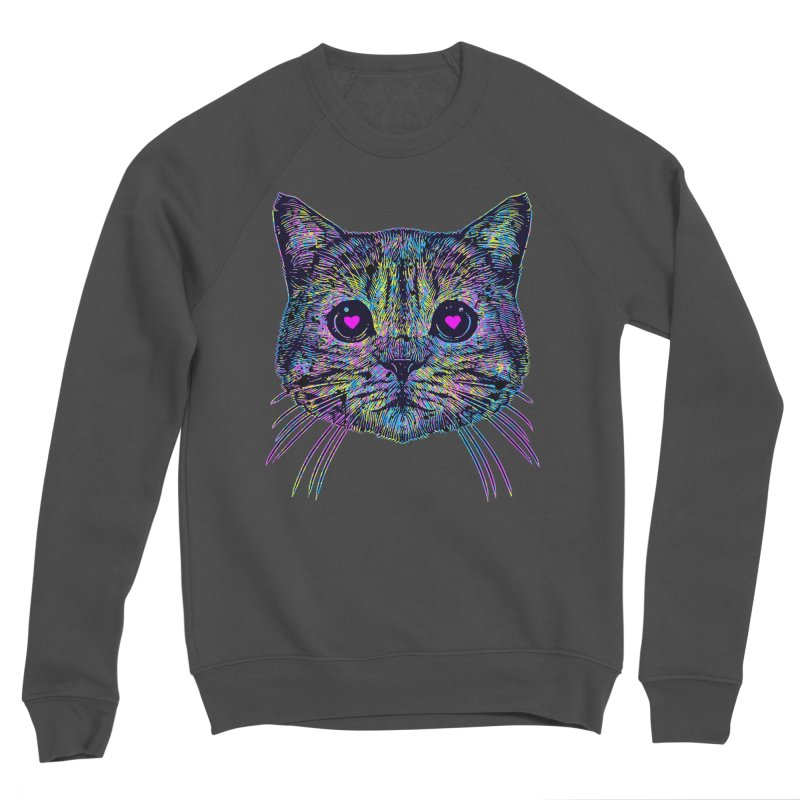 Love Cat Men's Sponge Fleece Sweatshirt by barmalisiRTB