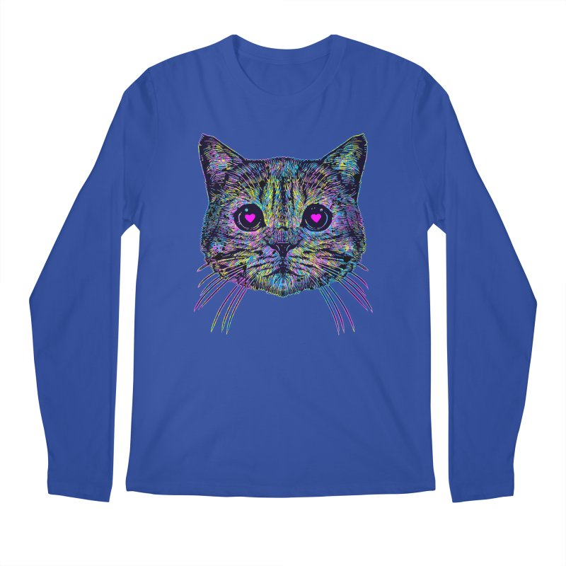Love Cat Men's Regular Longsleeve T-Shirt by barmalisiRTB