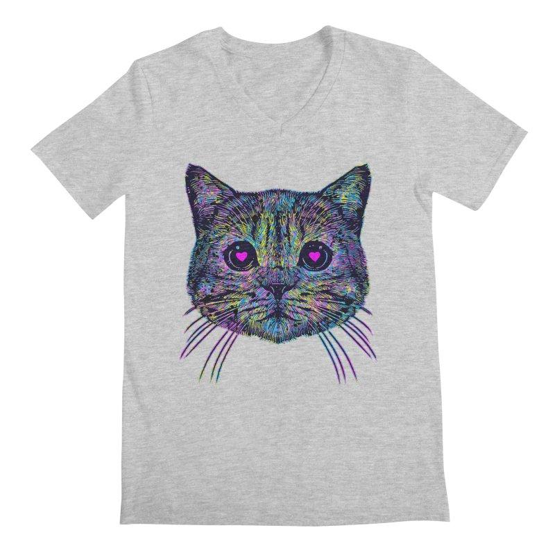 Love Cat Men's Regular V-Neck by barmalisiRTB