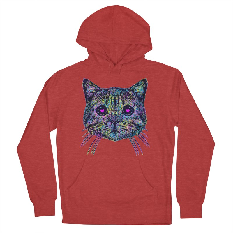 Love Cat Men's French Terry Pullover Hoody by barmalisiRTB